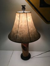 Lacquered Wood Log Lamp in 29 Palms, California