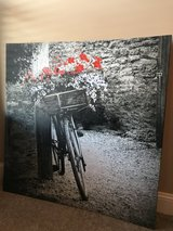 Canvas bicycle print in Fort Campbell, Kentucky