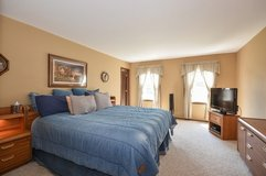 King Bedroom set with Armoire, Dresser, 2 Night Stands, Head Board in Naperville, Illinois