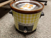 Vintage Sears & Roebuck Simmer-On Slow Cooker Yellow Checkered in Naperville, Illinois