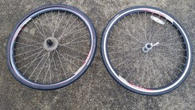 2x700cc Alex Rims DA13 road wheels with inner tubes and tires in Okinawa, Japan