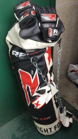 RDX punching bag and gloves in Riverside, California