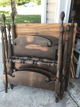 "Antique Mahogany Set of ""2"" Twin Beds with Acorn post Tops in Cherry Point, North Carolina"