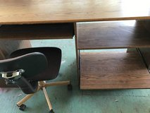 Reduced--desk with attached bookcase and chair in Fort Hood, Texas
