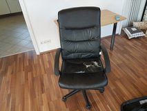 Worn Leather Computer Chair - FREE in Los Angeles, California