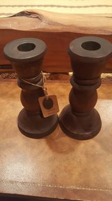 wood candle stick holders. in Kingwood, Texas