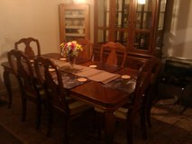 Elegant 9 pc Dining Set - Table, Chairs, Buffet, China Cabinet in Wilmington, North Carolina