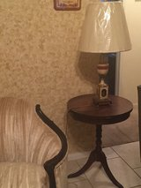 Round vintage side table Duncan Phyfe style in Kingwood, Texas