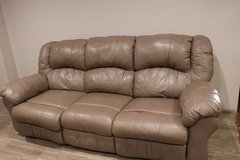 Recliner Leather Sofa in Tomball, Texas