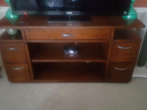 Havertys solid wood TV stand in Fort Meade, Maryland