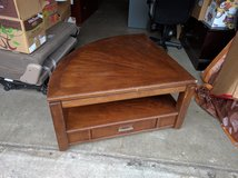 Pie-Shaped Coffee Table with Lift-Top, Solid Oak in Fort Lewis, Washington