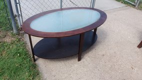 Glass top table in Fort Riley, Kansas