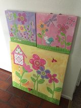 Canvas 3 Paintings - Girls Room in Fairfield, California