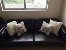 """Brown """"Leather"""" Couch in Okinawa, Japan"""
