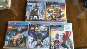 PS3 Video Games For Sale -  The Hobbit, Batman 3, Destiny, Spider Man, Rachet & Clank in Naperville, Illinois