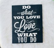 Large Canvas Print Do What You Love 16x20 in Camp Lejeune, North Carolina