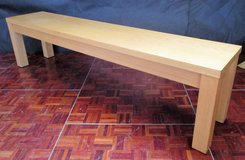 Birch Wood Bench for a Diningroom Table 220 cm long in Ramstein, Germany