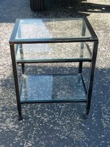 Glass side table in Aurora, Illinois