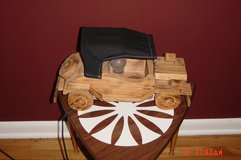 Handcrafted wooden car lamp in Wheaton, Illinois