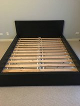 IKEA MALM QUEEN BED FRAME WITH SLATTED BASE. in Bartlett, Illinois