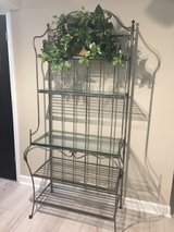 Beautiful Brushed metal with glass Bakers rack in Naperville, Illinois