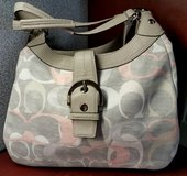Coach: Authentic purse gray/peach in Camp Lejeune, North Carolina