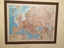 Framed map of Europe in Ramstein, Germany