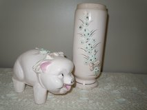 PIGGY BANK AND MATCHING VASE VINTAGE in Moody AFB, Georgia