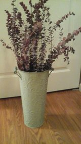 Umbrella Stand/ With Dried eucalyptus Included/Tall Vase/Tall Decorative Bucket in Naperville, Illinois