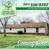 Rent to Own Home-Coming Soon-307 Mills Drive in Clarksville, Tennessee