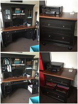 Desk, Hutch, File Cabinet in Stuttgart, GE