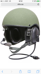 Combat Vehicle Crew helmet in Fort Irwin, California
