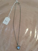 Silver Necklace w/blue center in Glendale Heights, Illinois