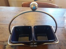 Pampered Chef Simple Additions Caddy & 2 Blue Bowls in bookoo, US
