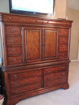 Dark Wood Highboy Chest of Drawers with tv cabinet in Quantico, Virginia