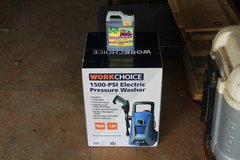 1500 psi WorkChoice Electric Pressure Washer with a free bottle of wash&wax in Fort Polk, Louisiana