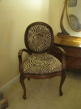zebra beige and brown chair in Great Lakes, Illinois