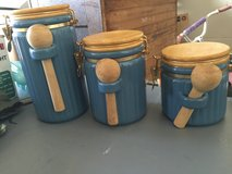 Blue Ceramic Canisters in Camp Lejeune, North Carolina