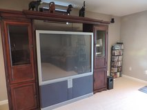 Like New Dark wood Entertainment Hutch/Cabinet in Quantico, Virginia