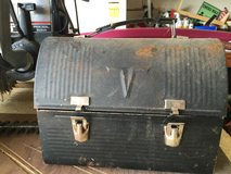 Old lunch box made in USA by Thermos in Camp Lejeune, North Carolina