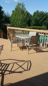 Patio Glass table and 5 chairs furniture in Lockport, Illinois