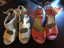 Size 8 and 8 1/2 heal and wedges in Camp Pendleton, California