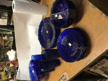Vera's Antiques and Collectibles 27 pcs Cobalt Blue Glass Dinner Set in Baytown, Texas