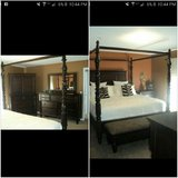 Ashley Key Town king bedroom set in Fort Drum, New York