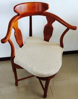 Rosewood Corner Chair w/cushion in Okinawa, Japan