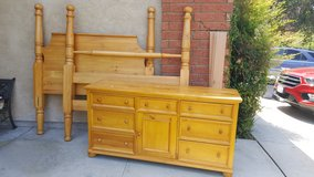 QUEEN BED FRAME AND DRESSER in Temecula, California