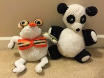Frog and Panda Bear hand made in Camp Lejeune, North Carolina