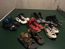 Multiple Basketball sneakers and summer sandals in Wheaton, Illinois