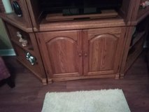 3 piece entertainment center, excellent condition, solid oak,very heavy, will need to pick up. in Valdosta, Georgia