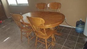 Wood 4 chair and table in Vacaville, California
